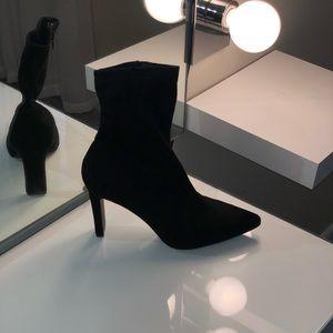 Black bootie heels